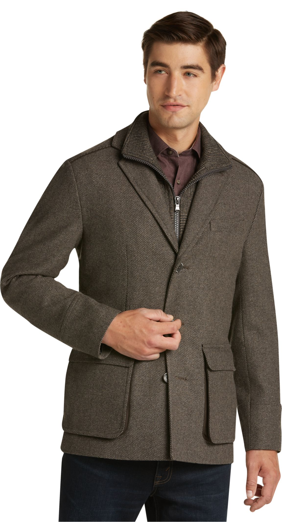 Men's Wool Casual Coats & Jackets | Men's Outerwear | JoS. A. Bank ...