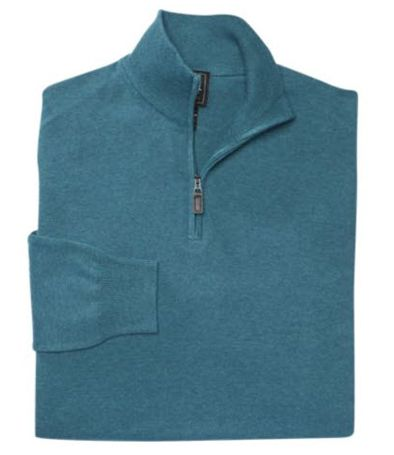 Signature Collection Pima Cotton Quarter-Zip Sweater