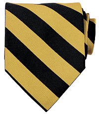 Collegiate Tie- Black/Gold