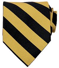 Collegiate Tie- Black/Gold