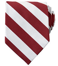 Collegiate Tie- Maroon/White