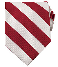 Collegiate Tie-Crimson/White