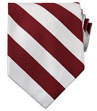 Collegiate Tie-Scarlet/White