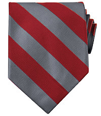 Collegiate Tie-Scarlet/Grey