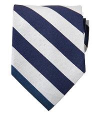 New 1940s Men's Ties, Neckties, Pocket Squares Collegiate Tie-BlueWhite $24.98 AT vintagedancer.com