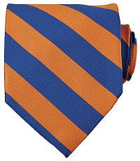 Collegiate Tie-Royal BlueOrange $49.50 AT vintagedancer.com