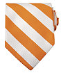 Collegiate Tie- Orange/White