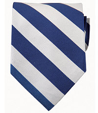 Collegiate Tie-Royal BlueWhite $49.50 AT vintagedancer.com