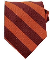 Collegiate Tie-Maroon/Burnt Orange
