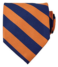 Collegiate Tie-Orange/Navy
