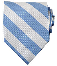 Collegiate Tie- Light Blue/White