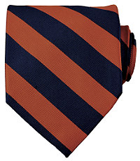 Collegiate Tie-Burnt Orange/Navy