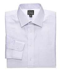 Traveler Spread Collar Mini Check Twill Dress Shirt