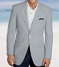 Stays Cool 2-Button Seersucker Sportcoat