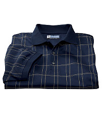 Leadbetter Stays Cool Windowpane Golf Polo