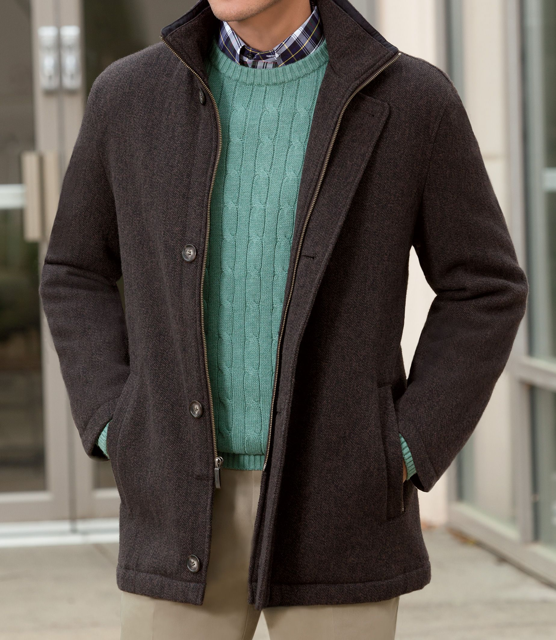 Men's Wool Casual Coats & Jackets | Men's Outerwear | JoS. A. Bank ...