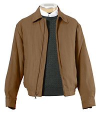 Micro-Suede Zip-Out  Bomber Jacket Tall