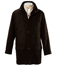 Micro-Suede Zip-Out Three-Quarter Length Jacket Big