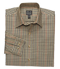 Traveler Patterned Cotton Point Collar Sportshirt