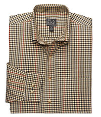 Traveler Long Sleeve Patterned Cotton Buttondown Sportshirt Big or Tall