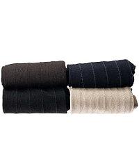 Pinstripe Mid-Calf Socks