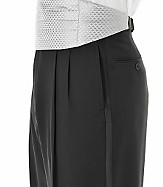 Black Pleated Front Tuxedo Trousers- Sizes 50-56