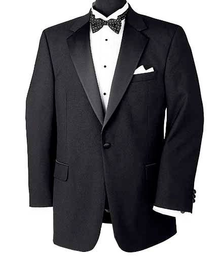 Men's Suit Black Notch Collar Tuxedo Jacket- Sizes 54-60 JoS. A. Bank - BLACK - 60 - LONG