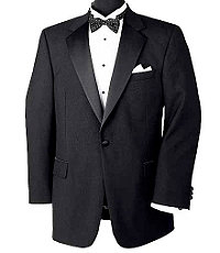 Black Notch Collar Tuxedo Jacket- Sizes 54-60