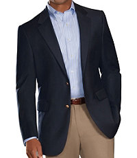 Signature 2-Button Wool Navy Blazer- Sizes 52-60