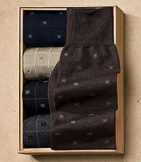 Windowpane Boxes Mid-Calf Socks