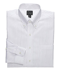 Traveler Tailored Fit Patterned Buttondown Collar Dress Shirt