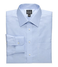 Traveler Spread Collar Twill Dress Shirt Big or Tall