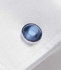 Light Blue Catseye Cufflinks