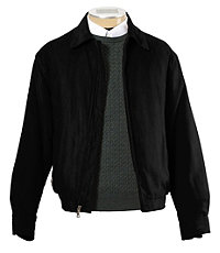 Men's Vintage Style Coats and Jackets Micro-Suede Zip-Out Bomber Jacket CLEARANCE $89.00 AT vintagedancer.com