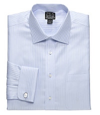 Signature Spread Collar, French Cuff Patterned Dress Shirt