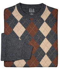 Fine Lambswool Argyle Crew Neck Sweater