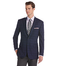 1905 Tailored Fit Windowpane Plaid Sportcoat Big and Tall