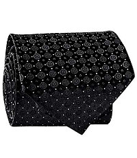 Formal Tie- Black Dot Medallion
