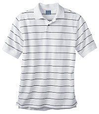 Stays Cool Striped Pique Polo