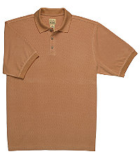 VIP Textured Mens Polo CLEARANCE - Large Rust $39.98 AT vintagedancer.com