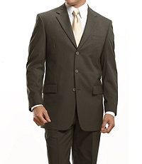 Business Express 3-Button Jacket- British Tan