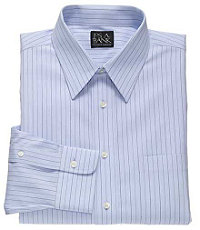 Traveler Point Collar Fineline Pinpoint Dress Shirt