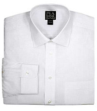 Traveler Spread Collar Check Dress Shirt