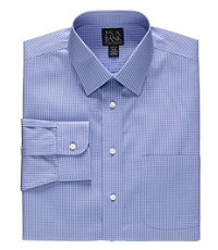Traveler Pinpoint Microcheck Spread Collar Dress Shirt