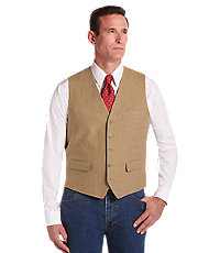 Joseph Abboud Tan Herringbone Vest Big  Tall $150.00 AT vintagedancer.com