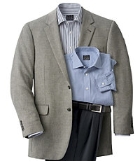 Signature 2-Button Imperial Blend Herringbone Sportcoat- Charcoal