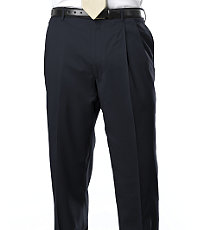 Signature Gold Pleated Trousers- Navy, Black, Charcoal Stripe