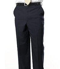 Signature Gold Plain Front Trousers- Navy, Black, Charcoal Stripe
