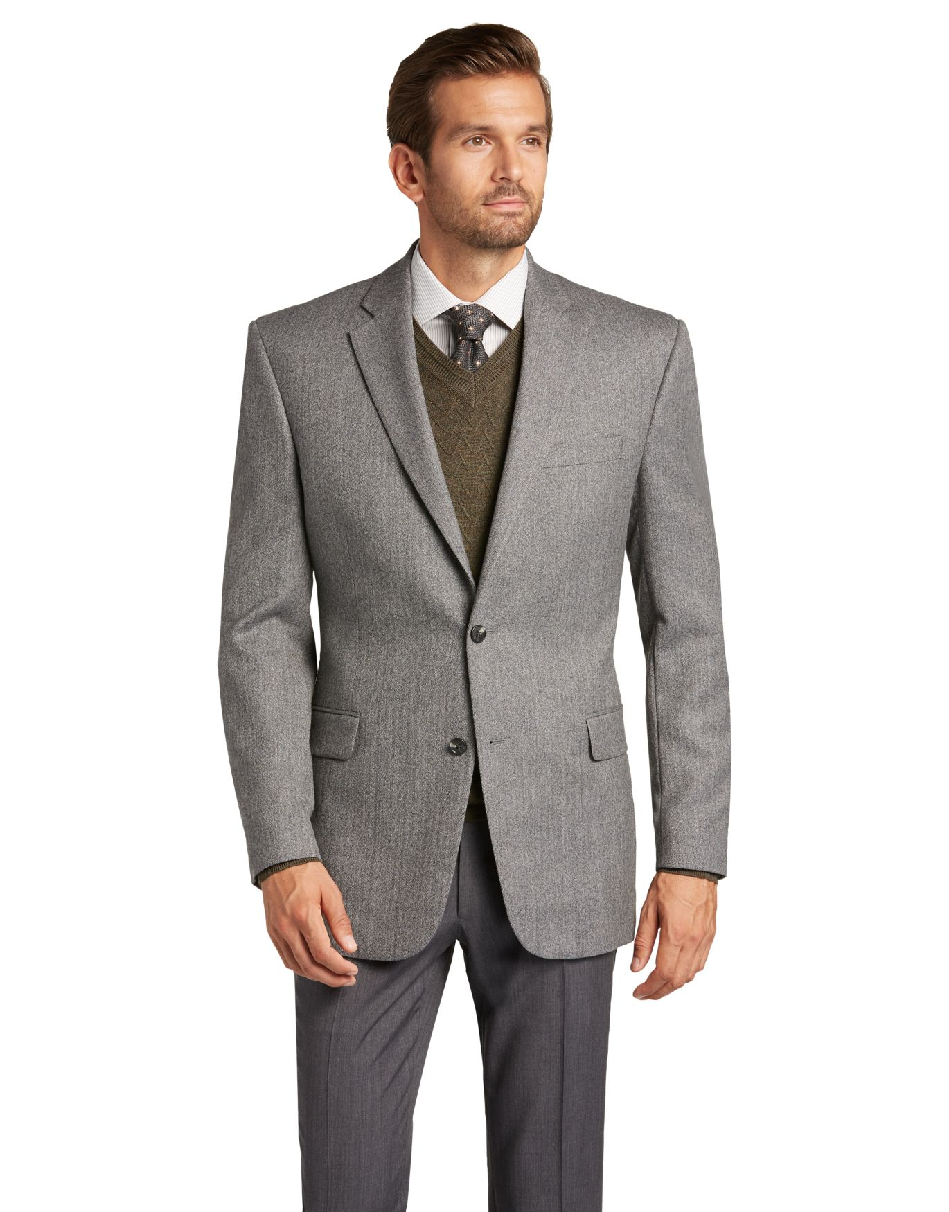 Traveler Collection Traditional Fit Herringbone Sportcoat ...