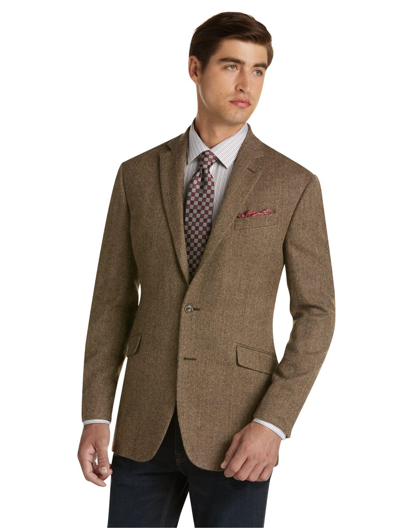 Tailored Fit Herringbone Sportcoat - Men's Sportcoats | JoS. A. Bank